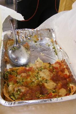 Pasticcio con pane carasau e zucchine